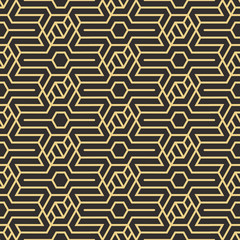 Panel Szklany Podświetlane Art Deco Abstract art deco seamless pattern