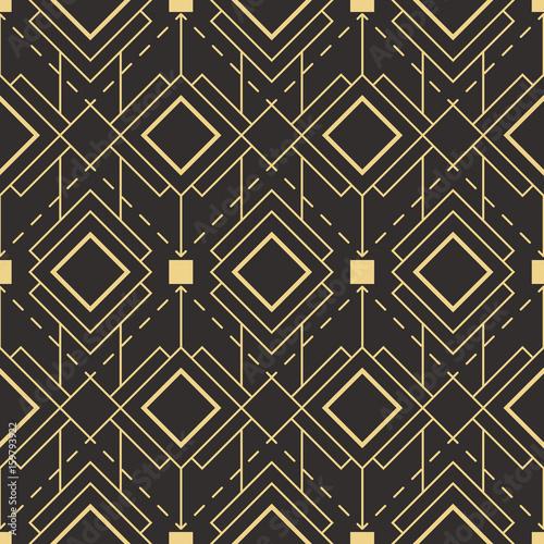 Tapety Minimalistyczne abstrakcjonistyczny-art-deco-bezszwowy-wzor