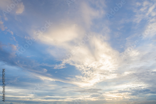 Foto op Canvas UFO Sky shooting and beautiful clouds