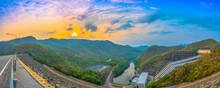 Sunrise At Srinakarin Dam. Srinakarin Dam Is A Hydro Electric Power Generation.also It Is A Landmark Of Kanchanaburi Province.