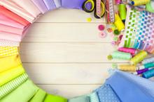 Cotton Colored Fabric. Backgro...