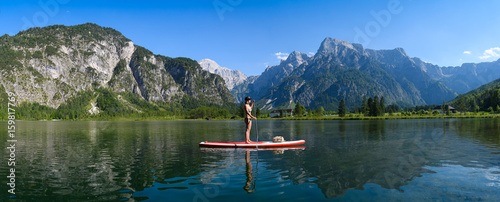Stand up paddling am Almsee Wallpaper Mural