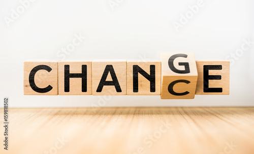 "Fotografie, Obraz  ""CHANGE"" & ""CHANCE"" concept"