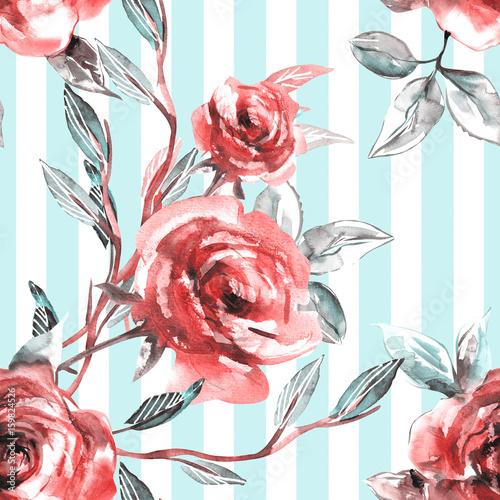 roze-bezszwowy-wzor-tlo-akwarela