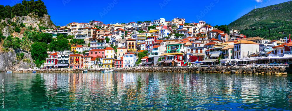 Fototapety, obrazy: Colorful Greece series - beautiful coastal town Parga