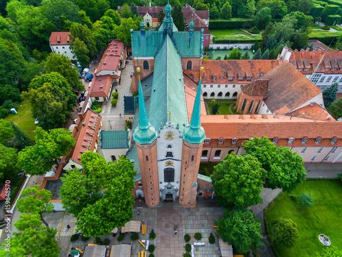 Fototapeta Oliwa Cathedral, top view obraz
