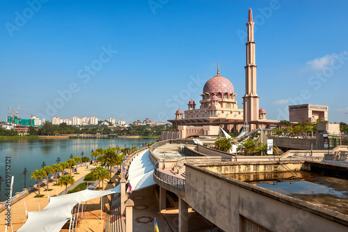 Masjid Putra Mosque in Putrajaya, Malaysia Poster