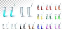Set Test Tube Multi Color On T...