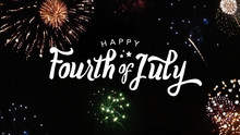 Happy Fourth Of July Typograph...