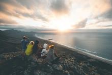 Group Of People Enjoying The Cofete Sunset - Fuerteventura