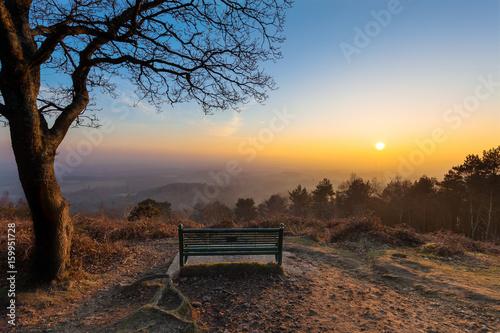 Foto auf AluDibond Schokobraun View from Pitch Hill, Surrey