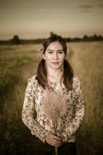 Portrait Of Beautiful Thai Wom...