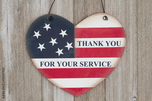 Thank you for your service message Wallpaper Mural