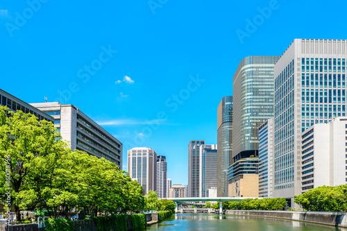Foto op Aluminium Blauw 都市風景 日本 大阪