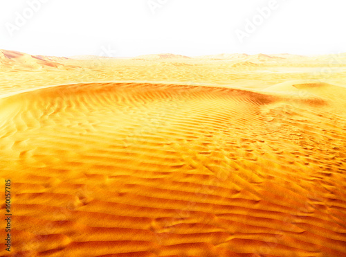 Poster de jardin Desert de sable in oman old desert rub al khali the empty quarter and outdoor sand dune