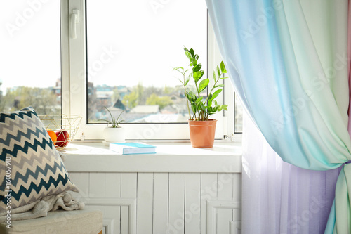 Modern Interieur Wit : Interior of modern room wit cozy window sill buy this stock photo