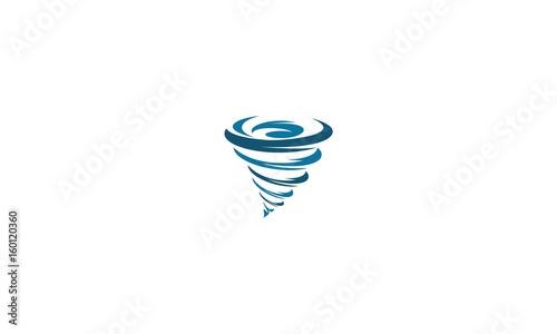 Obraz na plátně Wind, tornado, twister emblem symbol icon vector logo