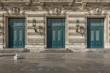 Türen an der Nationaloper in Montpellier, Südfrankreich