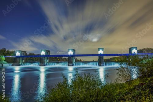 Foto auf Acrylglas Bestsellers Barrage of River Ruhr at Duisburg / Germany