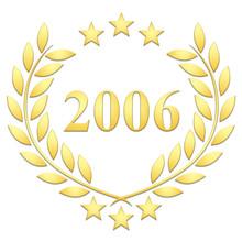 Lauriers 3 étoiles 2006 Sur Fond Blanc