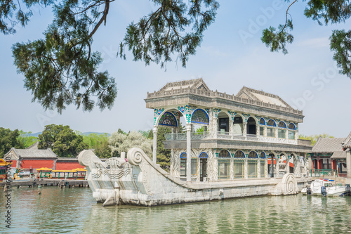 The Marble Boat in Summer Palace Beijing, China