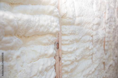 Fotografie, Obraz  Building foam on a wooden wall