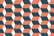 Modern Orange Block Pattern