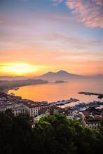 Sunrise Over Naples, Italy