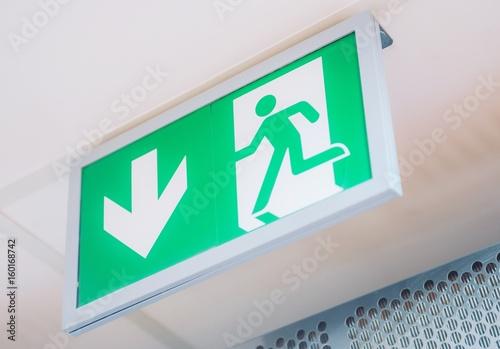 Fotografie, Obraz  Evacuation Exit Interior Sign