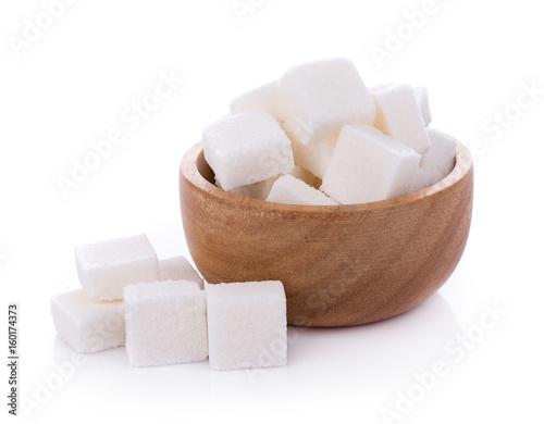 sugar cube on white background Fototapeta