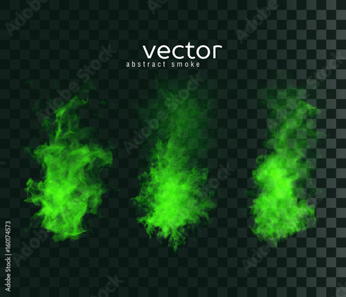 Vector illustration of smoky shapes. Canvas Print