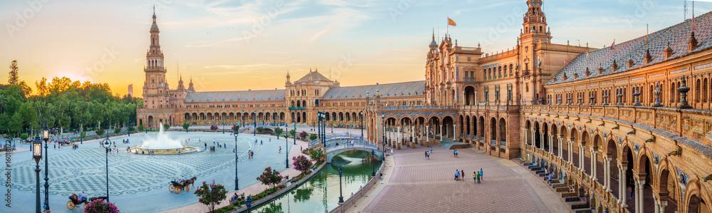 Fototapety, obrazy: The Plaza Espana