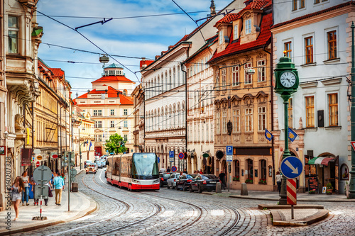 Prague street Wallpaper Mural