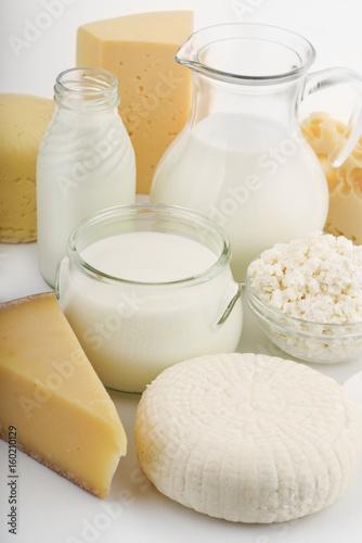 Poster de jardin Produit laitier Fresh dairy products