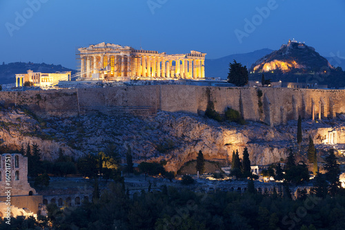 In de dag Athene Acropolis Athens Greece Epic