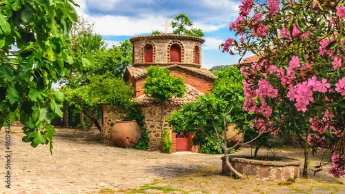 A chapel in the ancient famous monastery Moni Limonos Monastery on the island of Lesbos in Greece Wallpaper Mural