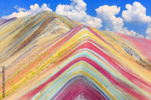 Foto auf Leinwand Südamerikanisches Land Vinicunca, Cusco Region, Peru. Montana de Siete Colores, or Rainbow Mountain.