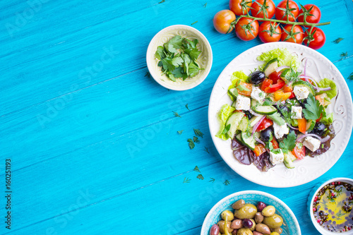 Fotografie, Obraz  Greek salad background