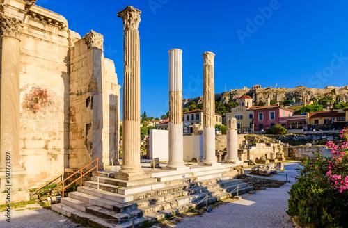Zdjęcie XXL Dziejowy centrum Ateny blisko Monastiraki kwadrata, Ateny, Grecja