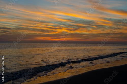 Fotografia, Obraz  Dusk Falls on the Beach