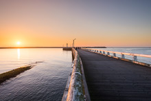 Sunset Over The Pier Of Oosten...