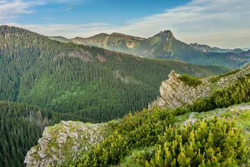 Panel Szklany Góry Giewont; Tatra mountains landscape