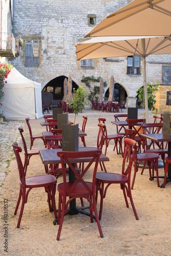 Terrasse De Café Dans Un Village Buy This Stock Photo And