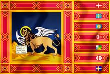 3D Flag Of Veneto, Italy