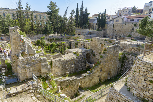 Excavated Ruins of the Pool of Bethesda and Church Poster