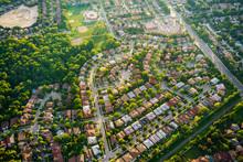 Aerial View Of Houses In Resid...