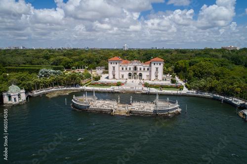 Aerial image of Villa Vizcaya Museum and Gardens Brickell Miami