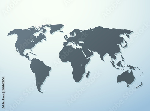World map isolated on white blue gradient background worldmap world map isolated on white blue gradient background worldmap vector template for website design gumiabroncs Gallery
