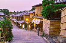 京都 夕方の二年坂
