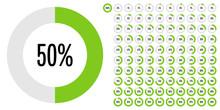 Set Of Circle Percentage Diagr...